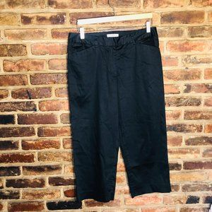 Pendleton Cropped Capri Black Slacks Size 12